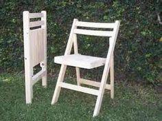 Resultado de imagen para medidas de una silla plegable de madera