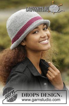 Вязаная крючком теплая женская шляпка