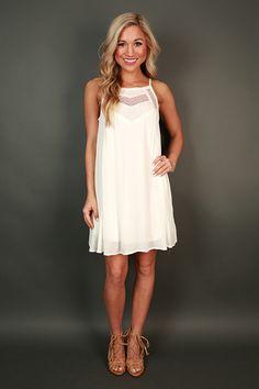 Sunday Sweetness Shift Dress in White