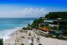 Amazing view of Dreamland Beach located in Pecatu Village, south part of Bali Island