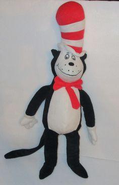 "Dr Seuss The Cat in the Hat 20"" Plush Stuffed Animal Kohls Cares For Kids #2 #KohlsCares"