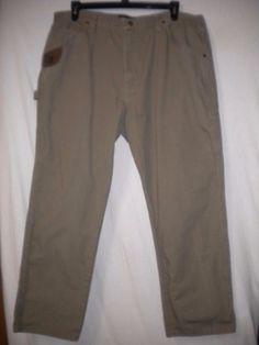 "Wrangler Riggs Workwear Size 40 X 30"" Inseam Olive Ripstop Carpenter Mens Pants #Wrangler #Carpenter"