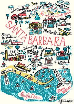 Santa Barbara Cityscape by Julia Gash