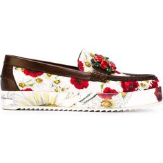 66e20efb2b2 Dolce   Gabbana Poppy Print Loafer featuring polyvore