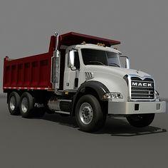 3D Dump Truck Mack Model - 3D Model