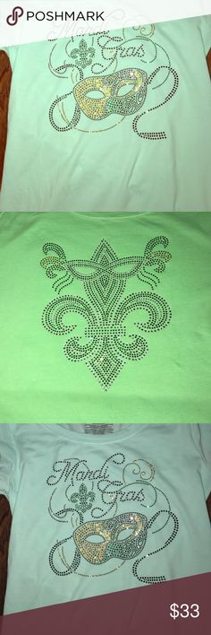 Mardi Gras bling shirts Customize Mardi Gras shirts order now I have them by Saturday . Tops Tees - Long Sleeve