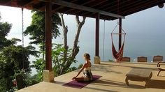 Is being able to practice yoga AND lay in a hammock, on my deck, in the midst of trees and overlooking water.