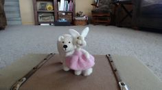 Bear Creek Bunny and the needle felted Polar Bear by Teresa Perleberg