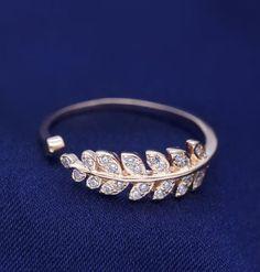 adorable olive leaf open fashion ring