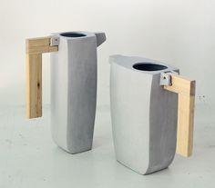 Concrete pitchers - Vano Alto | Betonnen schenkkannen