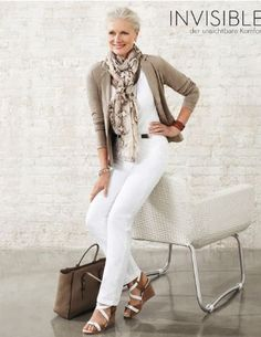 """""""Pia Gronning"""" She is a lovely mature model. This outfit is definitely my style…"""