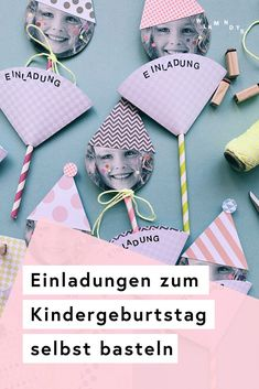 Basteln: Kindergeburtstag DIY Do you want to make fun invitations to children's birthday parties qui Diy Gifts For Kids, Easy Diy Gifts, Diy Crafts For Gifts, Diy Gifts For Boyfriend, Diy Birthday, Birthday Cards, Birthday Gifts, Birthday Parties, Funny Birthday Invitations