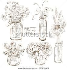 Image result for flowers in jars and bottles