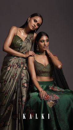 From stunning RTW sarees to flowy lehengas with embellished bustiers and stylish choker dupattas, The Resort Prints has a varied yet versatile array of styles and silhouettes that will work best for the modern brides and baraatis who share the love of everything fashion as we do! Indian Wedding Outfits, Indian Outfits, Indian Clothes, Indian Bridesmaids, Bridesmaid Outfit, Modern Fashion, Fashion Styles, Fashion Outfits, Indian Attire