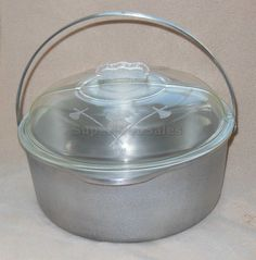 Guardian Ware Kettle Dutch Oven Stock 5Qt Pot Stove Top Pan 11 Glass Lid 241X #GuardianService