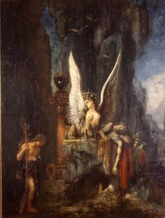 Gustav Moreau, Edipo e la Sfinge, 1888, olio su tela, Musée de La Cour d'Or – Metz Métropole