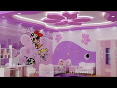 Drawing Room Ceiling Design, Ceiling Design Living Room, Bedroom False Ceiling Design, Girls Room Design, Kids Bedroom Designs, Casa Anime, Bedroom Decor Lights, Baby Girl Room Decor, Kids Room Wall Art