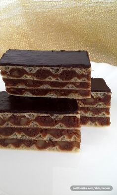 Jako me podseca na jafa keks,nece te se pokajati kad ga probate Torte Cake, Cake & Co, Baking Recipes, Cookie Recipes, Dessert Recipes, Torte Recipe, Kolaci I Torte, Chocolate Wafers, Croatian Recipes