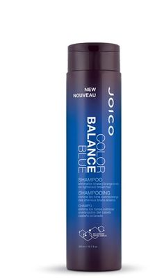 """Joico Color Balance Blue Shampoo10.1 oz Eliminates brassy/orange tones on lightened brown hair We decided to leave brassy to the band, and give the """"Sombré Set"""" (our new, subtle take on Ombré-highlig"""