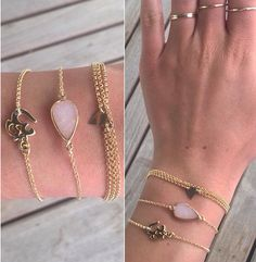 CUSTOM stack designed fully by customer.  Email us to design your very own jewelry! We'll make whatever your heart desires.