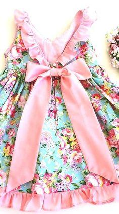Girls clothes Shabby Chic Toddler Dress Pretty Girls