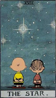 Peanuts Tarot: The Star As much as I should put this in my tarot section. I really wanna be in the charlie brown cartoon lol classic. Im the missing character_gypsy