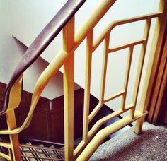 This Art Deco staircase is in an old shoe factory in Leicester.