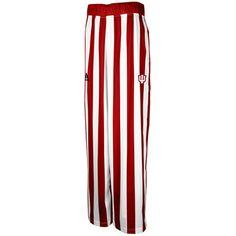 Mens Indiana Hoosiers adidas Crimson/White Authentic On-Court Candy Striped Warm-Up Tear Away Pants