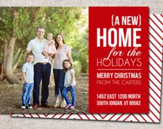 Holiday Photo Christmas Card | Home for the Holidays | Moving ...