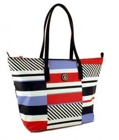 !!!Tommy Hilfiger Shoppertasche Poppy Zip Nylon Patchwork blau Nylons, Tommy Hilfiger, Poppy, Diaper Bag, Tote Bag, Zip, Bags, Scrappy Quilts, Color Blue