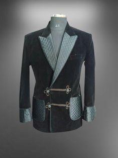 Smoking Jacket, Man Smoking, Custom Tuxedo, Black Velvet, Party Wear, Coat Styles, Suit Jacket, Blazer, Elegant