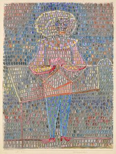 Boy in Fancy Dress Artist: Paul Klee (German (born Switzerland), Münchenbuchsee 1879–1940 Muralto-Locarno) Date: 1931 Medium: Watercolor and gouache on paper mounted on cardboard Dimensions: 23 1/2 x 17 3/4 in. (59.7 x 45.1 cm) Classification: Drawings Credit Line: The Berggruen Klee Collection, 1988 Accession Number: 1988.415