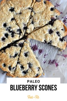 Paleo Blueberry Scones feature a fluffy cashew flour and arrowroot starch base mixed with fresh blueberries and real maple syrup for the perfect healthier breakfast treat! Vanilla Bean Scones, Savory Scones, Fed And Fit, Arrowroot Starch, Scones Ingredients, Gluten Free Blueberry, Gluten Free Baking, Paleo Baking, Blueberry Scones