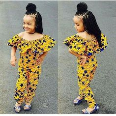 Ankara Styles For Kids; Little Girls And Baby Girls Ankara Styles Baby African Clothes, African Dresses For Kids, African Children, Latest African Fashion Dresses, African Print Fashion, Ankara Fashion, African Prints, Ghanaian Fashion, African Women