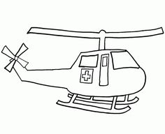 Dibujo infantil de Helicóptero de salvamento para colorear