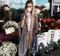 farmers market fall post with fringe scarf
