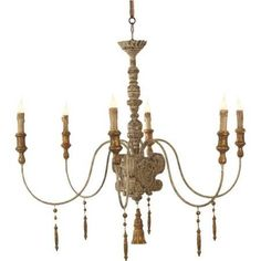 painted wood chandelier - Google Search