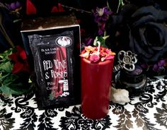 RED WINE & ROSES Pillar Candles are designed with the power of love, romance, and passion! An ideal Valentines Day gift for any soul mate. This candle smells AMAZING and will enhance the power and passion of the most romantic night of the year! Scented with the intoxicating aroma of a glass of Cabernet Sauvignon in a dark, burgundy candle topped with Rose petals. Pillar Candles are made with soy wax, cotton core wicks, fragrance & essential oils. These candles burn cleaner than most o...