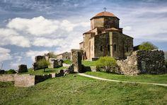 Orthodox monastery Jvari. 5-6 century building. Georgia, Mtskheta.