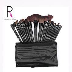Princess Rose Brand 24pcs Professional Make Up Makeup Brushes Set Kit Fan Brush Foundation Powder Blush Contour Eyeshadow PR24B