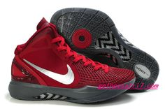 Nike Zoom Hyperdunk 2012 Blake Griffin Supreme Shoes Red Silver 454138 001