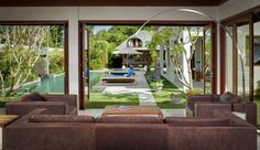 LIVING ROOM OVERLOOKING POOL - Google Search