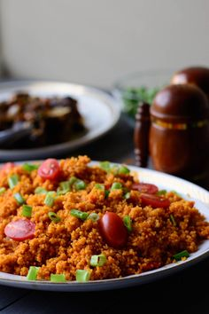 Lettuce Salad Recipes, Chicken Salad Recipes, Meat Recipes, Healthy Recipes, Rice Recipes, Yummy Recipes, Dinner Recipes, West African Food, Jollof Rice