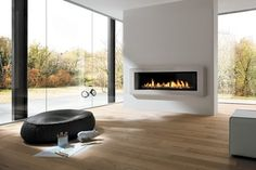 gas fires contemporary rooms - Google Search