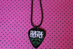 Suicide Silence Guitar Pick Necklace by HellcatBoutique on Etsy