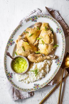 Steamed Chicken, Ginger Chicken, Baked Chicken, Roast Chicken, Chicken Meals, Ginger Scallion Sauce, Ginger Sauce, Best Chicken Recipes, Asian Recipes