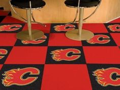 "Calgary Flames 18""x18"" Carpet Tiles"
