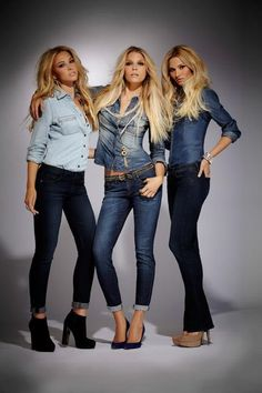 never liked denim on denim, but they pull it off!