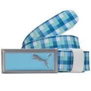 Puma Check Enamel Fill Womens Golf Belt Blue.  Love!!!