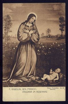 The Adoration of the Child Vintage Christian Postcard